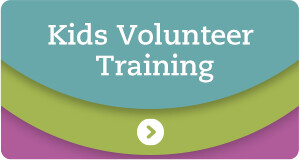 Kids Volunteer Training Badge